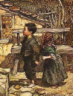 Hansel and Gretel.1909. Grimm/Rackham, illust./US PD. pub.date/Commons.wikimedia.org