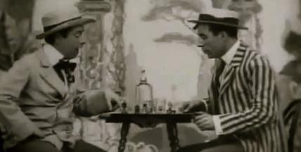 Men playing chess. 1903. Robert W. Paul/USPD/pub.date/Commons.wikimedia.org)