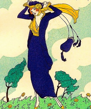 1913 blue dress fashion plate.Dammy/Gazette du Bon Ton/US PD:pub.date/Commons.wikimedia.org)