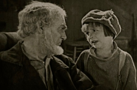 "Old man and boy in vintage film. 1921.""My Boy"". Pretty Clever Films/ US PD:pub. date/Commons.wikimedia.org)"