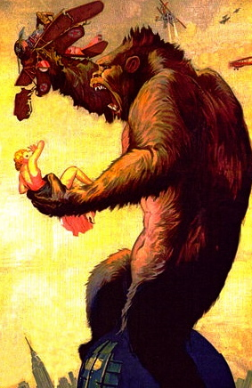 1933. King Kong poster/US PD:pu.date/CR not renewed/artist life/Commons.wikimedia.org)