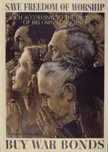 1941-1945 poster by Norman Rockwell 1894-1978.NARA/US PD: by Fed employee: pub.date, artist life/Commons.wikimedai.org)