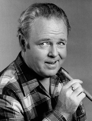 Archie Bunker(O'Connor) All in the Family CBS series.1975/US PD:no cr marks/pub.date/Commons.wikimedia.org)