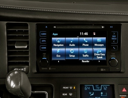 Toyota Driver Easy Speak option on dash.(Image:dailymail/Toyota)