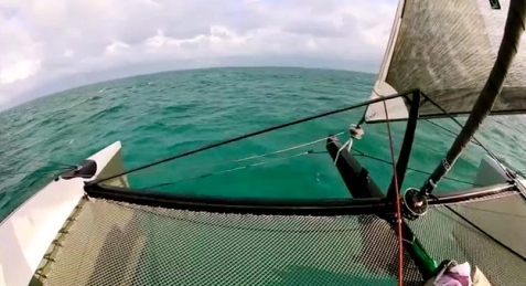 Yachting World's sail of Gunboat 66 in Bahamas (YouTube screenshot)