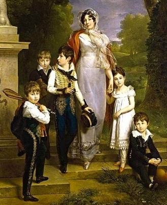 1814 Portrait of Duchesse and children. Gerard(1761-1837) Public domain image. artist life+100 yrs./Commons.wikimedia.org