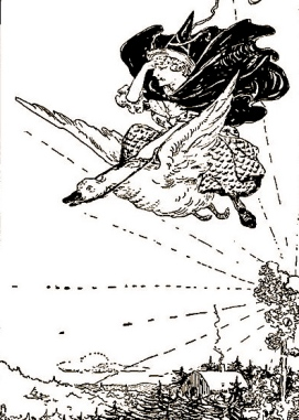 1901 Mother Goose.Book of Nursery Tales.Atwood/US PD:pub.date.exp.cr/Commons.wikimedia.org)