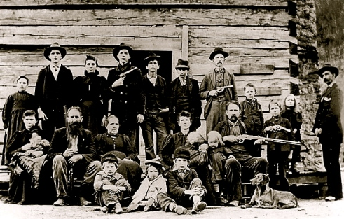 Hillbillies. Hatfield Clan. 1897/US PD:pub.date/Commons.wikimedia.org)