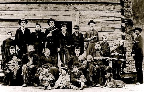 Hillbillies. Hatfield Clan. 1897/US PD:pub.date/Commons.wikimedia.org)