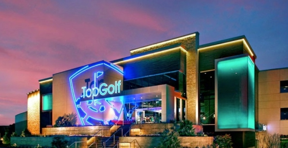 Top Golf building exterior. Topgolf Houston West screenshot