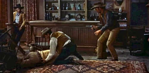 "Bar room fight.Trailer screenshot ""Rio Bravo""1959/US PD:Pub.date/Commons.wikimedia.org)"