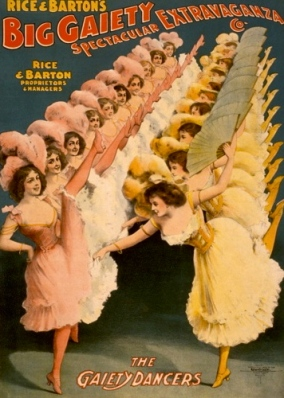 1900 Dancers. Chorus girls.Rice and BArton's Big Gaiety Spectacular Extravaganza CO.(LoC/USPD:pub.date/Commons.wikimedia.org)