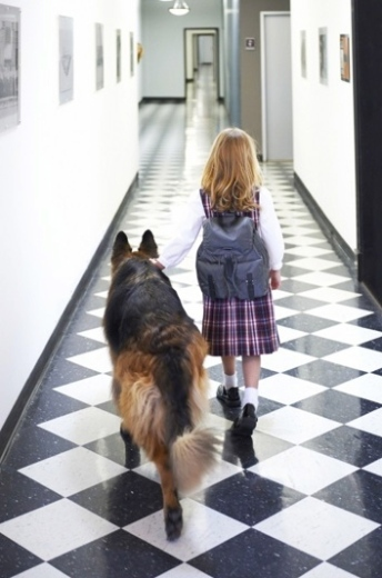 A comfort knowing you are near. (K9s4cops.org/kids/)