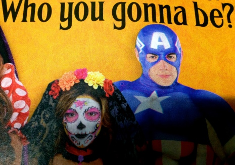 Halloween costumes. Party City brochure cover