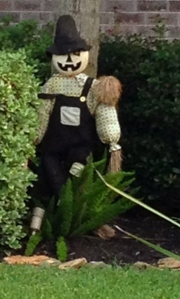 Halloween yard decoration. Scarecrow