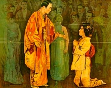 1920 vintage silent film with Chinese couple.Breath of the Gods/Universal/US PD: pub.date/Commons.wikimedia.org)