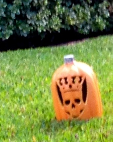 pumpkin with crowned skull face. All rights reserved. No permissions granted. copyrighted