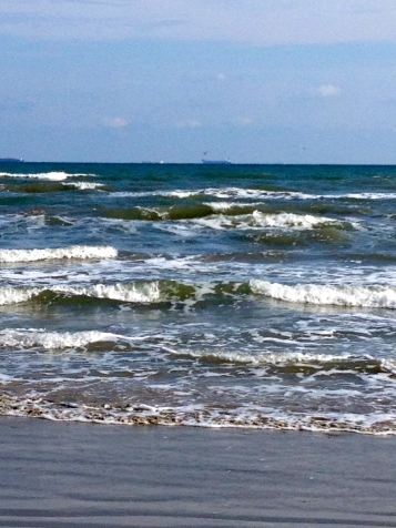 Gulf Waves on Galveston beach. No permissions granted. All rights reserved. Copyrighted