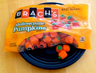 candy pumpkins in a bag. All rights reserved. No permissions granted. copyrighted