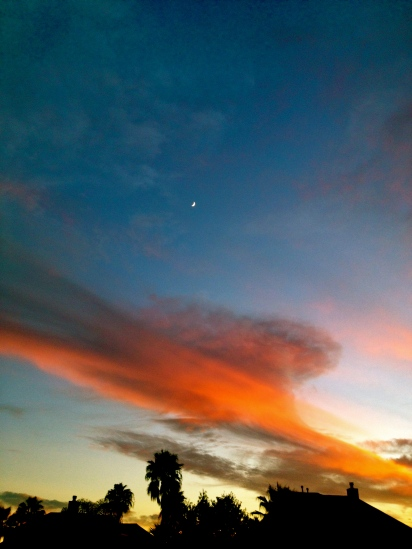 All rights reserved. moon over sunset.ALl rights reserved. Copyrighted
