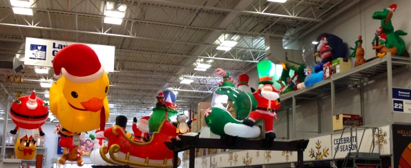 All rights reserved. Inflatable Christmas yard decorations. No permissions granted. Copy righted