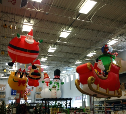 Inflatable Christmas Santa yard deocrations ALl rights reserved. No permissions granted. Copy righted