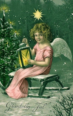 Vintage Christmas postcard of angel. (National Library of Norway./Commons.wikimedia.org)