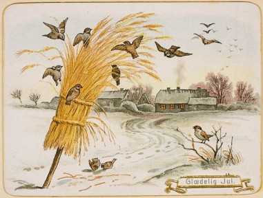 Vintage Christmas Postcard with birds.Nat.Lib.of Norway.Anne-Sophie Ofrim/Commons.wikimedia.org)