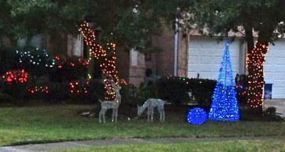 Christmas deer yard decor. No permissions granted. All right reserved. Copyrighted