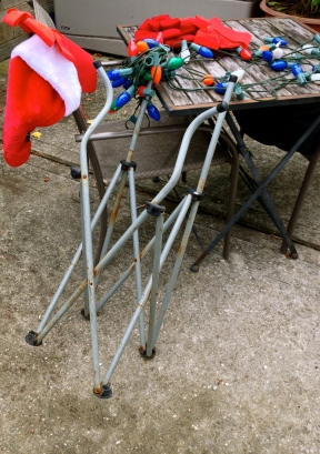 Folding chair leaning on another. All rights reserved. Copyrighte. No permissions granted
