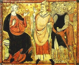 King Henry II and Thomas Archbishop. 14th Century.(British Library/USPD:Reprod of PD art, expired CR, author's life+70/Commons.wikimedia.org)