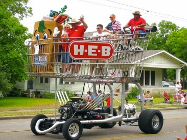 HEB grocery cart. An earlier 2012 version. (photo by Nathan Huth. From laughingsquid.com )