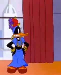 Daffy Duck as Carmen Miranda in Yankee Doodle Daffy. 1943/Warner Bros. Friz Freleng/USPD: Pub. date for animation/Commons.wikimedia.org)
