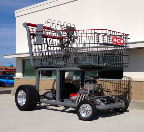 HEB art car Shopping cart. ALl rights reserved. No permissions gratned