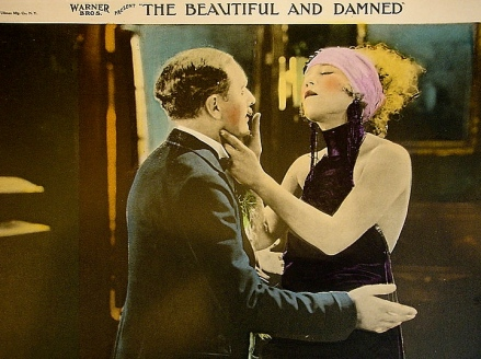"vintage film couple.1922 lobby card. Film.""The Beautiful and Damned"" Warner Bros./USPD.pub.date/Commons.wikimedia.org)"