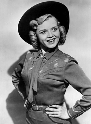 """Cowgirl.1952.Gloria Winters as Penny in """"Sky King"""". ABC TV publicity shot/USPD: no cr,pub.date/Commons.wikimedia.org"""