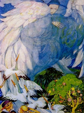 Leaving Paradise. Anderson (1874-1930)Garden of Paradise: USPD. reprod of PD art:pub.date:Commons.wikimedia.org