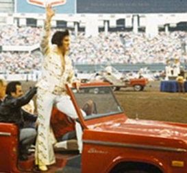 Elvis at rodeo. Yes, even Elvis was a rodeo star. It was one of the biggest entertainment venues in the country. 1970's (www.rodeohouston.com)