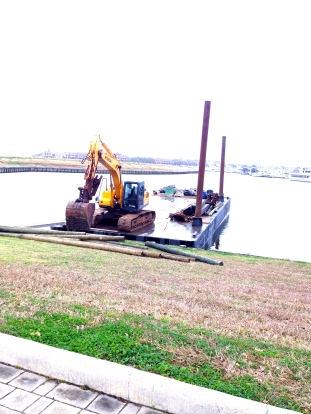 Work barge. All rights reserved.Ghostly (no permissions granted)presence floated (copyrighted)in front of her eyes