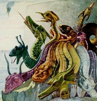 dragons. Polish Fairy Tales, 1920.Glinski/ill.Walton/USPD:pub.date/Commons.wikimedia.org)