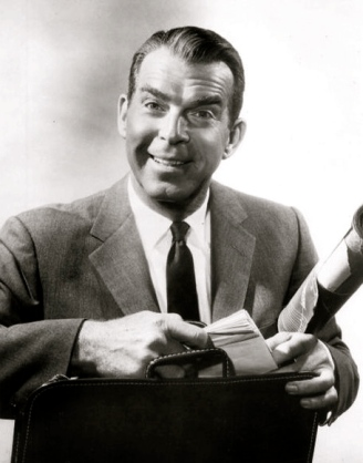 "1960. Fred MacMurray. ""My Three Sons"".ABC tv/USPD:pub.date.no cr/ Commons.wikimedia.org)"