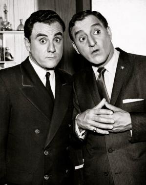 "Two men. Danny Thomas. Bill Dana /""Danny THomas Show"".1961.CBS/USPD: pub.date,no cr/ Commons.wikimedia.org)"