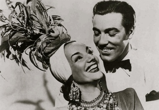"1941 Carmen Miranda and Cesar Romero.""Week-End in Havana""20th Century Fox/ USPD: Pub.date, pub. photo for press/Commons.wikimedia.org)"