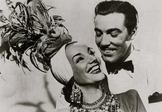 "1941 Carmen Miranda and Cesar Romero.""Week-End in Havana""20th Century Fox/ USPD: Pub.date, pub. photo for press/Commons.wikimedia.org)"