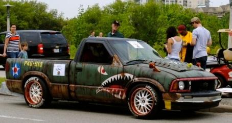 art car. shark truck. 2015 Houston Art Car PArade/screenshot khou.com