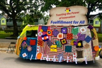 Toaster Art Car. 2015 Houston Art Car Parade/screenshot.khou.com)