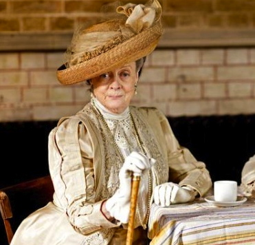 """Dowager Countess seated.""""Downton Abbey""""/Masterpiece/pbs.org screenshot)"""