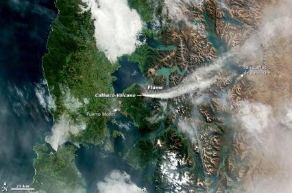 Eruption of Calbuco, April24,2015/NASA Earth Observatory image, Stevens/Captions:Carlowicz/Lance/EOSDIS Rapid Response team/NASA Goddard)