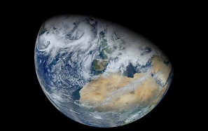 View of earth from space.Image by Normal Kuring, NASA GSFC, using data from VIIRS instrument aboard Suomi NPP)