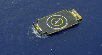 SpaceX's ocean landing platform. (Techcrunch)